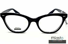 MIASTO CAT EYE FASHION EYEWEAR CLEAR LENS GLASSES SPECS (SKEETER,THE HELP)~BLACK