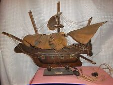 OLD Vintage Wooden Sailing Clipper Ship Pirate Boat The Bountie Electric