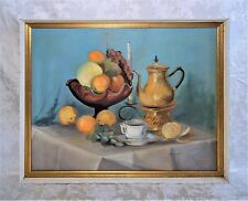 Original Vintage Oil Painting Signed by Elsa K Hall Listed Artist Still life
