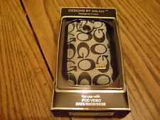 DESIGNS BY MILAN IPOD VIDEO CASE (NIP) DESIGNER CASE BLACK & GRAY 30GB/60GB/80GB