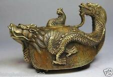 CHINESE OLD COPPER HANDWORK DRAGON TEA POT