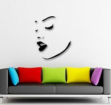 Wall Stickers Vinyl Decal Hot Sexy Girl Face Eyes Lips (ig659)