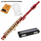 New Red Laquered Key of C PICCOLO w/ Case+Warranty