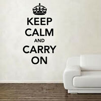 Keep Calm & Carry On Decal Vinyl Wall Sticker Art Home Sayings Popular