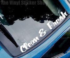 CLEAN & FRESH Funny Novelty Car/Van/Windscreen/Back Window/Bumper Sticker Large
