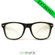 GloFX Ultimate EXTREME Diffraction Glasses – Black Goggles Rave Lights Club
