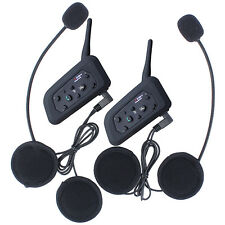 2pcs V6 1200M Bluetooth Motorcylce Helmet Intercom Interphone Biker Headset Kit