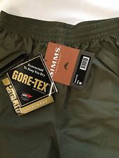 "SIMMS PAC LITE COASTAL PANTS MOSS  MEDIUM ONLY ""RETAIL $160.00"""