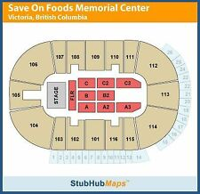 Tragically Hip 2 Tickets 07/22/16 Victoria Save On Foods Memorial Centre 113 K