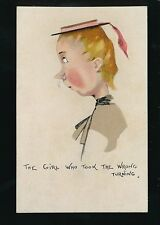 Comic The Girl Who Took The Wrong Turning romance dress fashion c1940/50s? PPC
