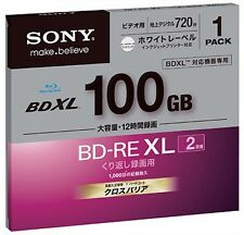 Sony BD RE XL 100GB blu ray disc BD-RE XL 2X blank media bluray