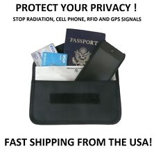 Cell Phone GPS RFID Signal Blocker Pouch Wallet   Prevent / Stop Tracking Spying