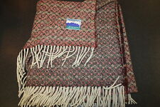 100% Wool Blanket - Jacquard style - Red