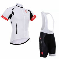 Men sport wear Team Racing Cycling Short Sleeve Jersey and bib Shorts tights