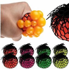 Adult Fidget Stress Relief Squishy Mesh Ball Grape Fruity Squeeze Fidget Toys