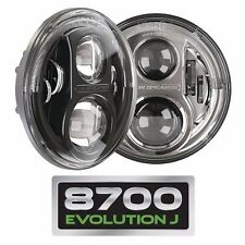 JW Speaker 8700 Evolution J Series LED Headlights 07-15 Jeep Wrangler JK - Black