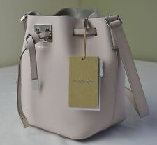 $690 Michael Kors Collection Cameo Pink Miranda Small Drawstring Bucket Bag