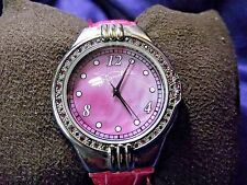 Woman's Signature Watch with Pink Mother of Pearl Face **Nice** B62-1090