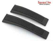 Tag Heuer 21MM/18MM Black Rubber Watch Band
