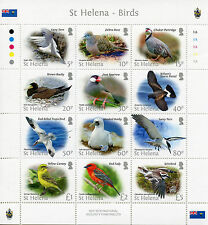 St Helena 2015 Bird Definitives 12v M/S Birds Tropicbird Booby Terns Stamps