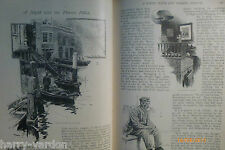 Night with Thames River Boat Police Illustrated Antique Victorian Article 1891
