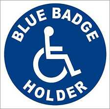 Disabled Sign Disability Blue Badge Holder Car Parking STICKER / VINYL DECAL