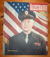ILLUSTRATED MAGAZINE 16TH MARCH 1945 GENERAL EISENHOWER FRONT COVER
