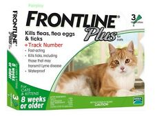 FRONTLINE PLUS For Cats And Kittens 8 Weeks Or Older 3 Doses ( 1 Green Box )