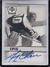 1999-00 UD CENTURY LEGENDS GERRY CHEEVERS EPIC SIGNATURES AUTOGRAPH AUTO*