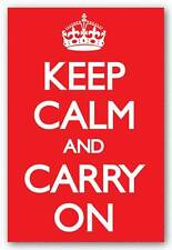 INSPIRATIONAL POSTER Keep Calm Red