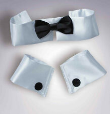 CHIPPENDALE STRIPPER BLACK BOW TIE CUFF COLLAR Set Male Costume Playboy Bunny