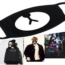 Men Women Cycling Anti-Dust Bear Cotton Mouth Face Mask Respirator Unisex Black