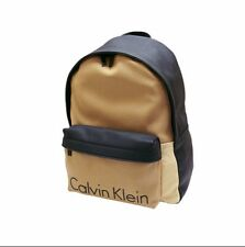 NWT Calvin Klein Emerson Mens Backpack Black and 2 Tone Khaki MSRP $ 139.00