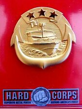 USN US NAVY NAVAL SHIP SMALL CRAFT COMMANDER FULL SIZE QUALIFICATION BADGE G