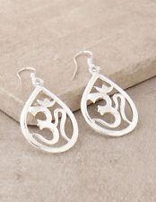 Cosmic Om Aum Symbol Dangle Drop Earrings Yoga Hippie Boho Bohemian Jewelry