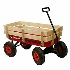 Speedway All Terrain Racer Steel Red Wagon with wood sides MPN/Model 52178