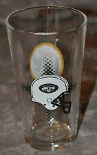 """New York Jets Miller Lite Promotional Beer Glass With Logos NOS Unused 6"""" Pint"""