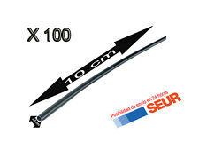 100X Tubo 10 cm Retractil Negro Cable 2,5 mm diametro aislador termoretractil