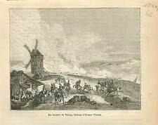 Bataille de Valmy 1792 Tableau Horace Vernet GRAVURE ANTIQUE OLD PRINT 1873