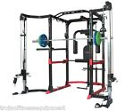Power Rack Cage Lat Attachment Cable Cross Over FREE 4 Gym Floor Tiles