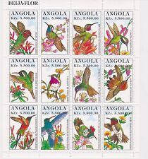 Angola - Hummingbirds, 1996 - Sc 958 Sheetlet of 12 MNH