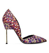 Kurt Geiger London Bond Jacquard Celeb High Heel Court Shoes Size 6 39 RRP £230