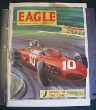 1962  EAGLE comic ferrari  jim clarke graham hill original autocourse f1 GP art