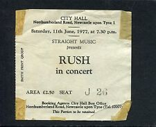 Original 1977 Rush Stray concert ticket stub Newcastle Uk Farewell To Kings