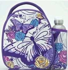 *NEW* Smash Skitter Butterfly & Roses Design Bag Lunch Box With Drinks Bottle