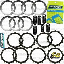 Apico Clutch Kit Steel Friction Plates & Springs For Honda CR 250 2001 Motocross