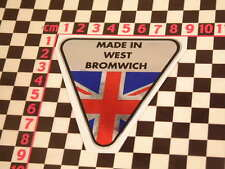 Made in West Bromwich Chrome Sticker- Jensen Interceptor Volvo P1800 CV8 541