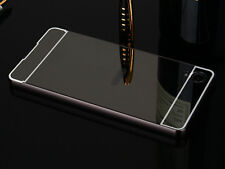 Black Luxury Aluminum Metal Bumper + PC Mirror Case Cover For Sony Xperia X S001