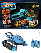 New - Hot Wheels TERRAIN TWISTER R/C - BLUE Radio Control LAND Water SNOW 27MHz