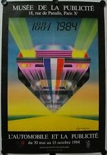 Affiche L'AUTOMOBILE ET LA PUBLICITÉ 1984 Luigi Castiglioni